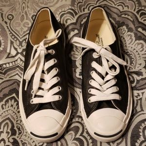 Converse Jack Purcell black leather size 6.5